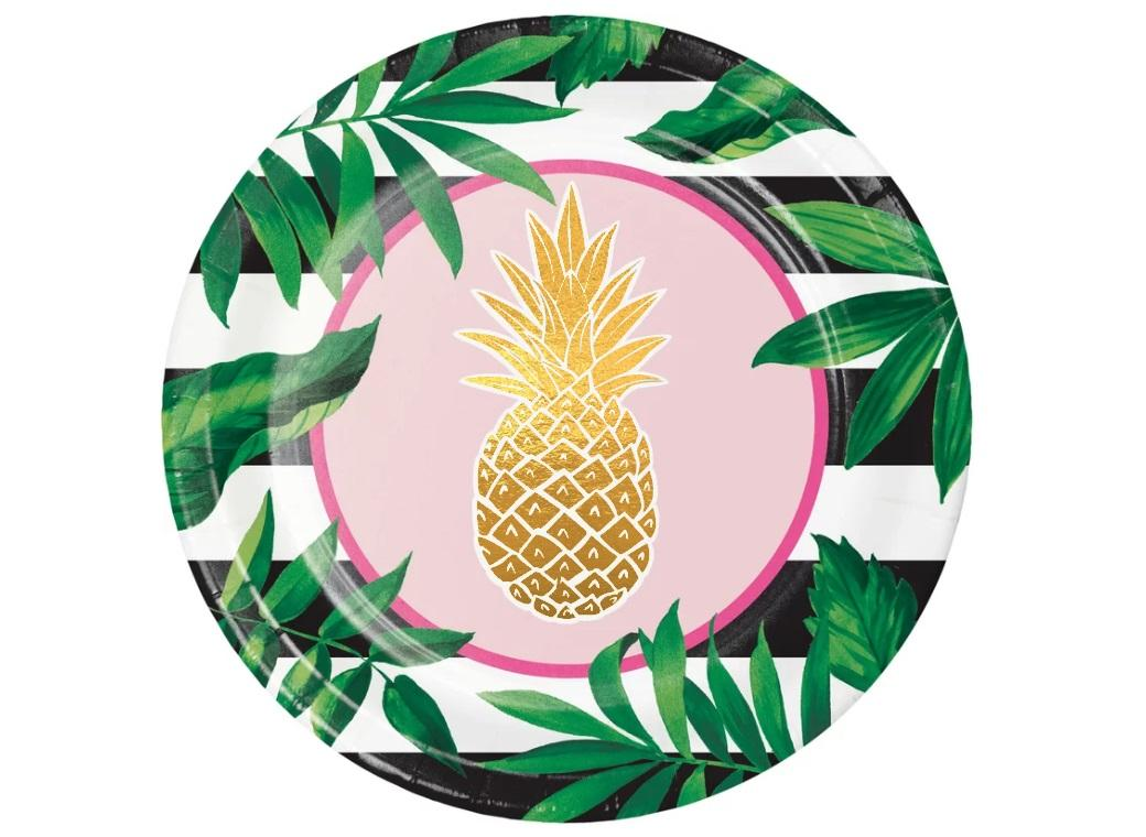 Pineapple Luxe Dinner Plates 8pk