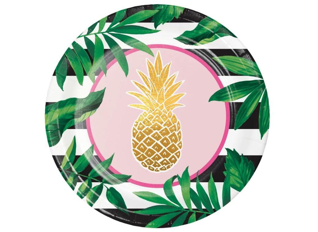 Pineapple Luxe Dinner Plates 8pk
