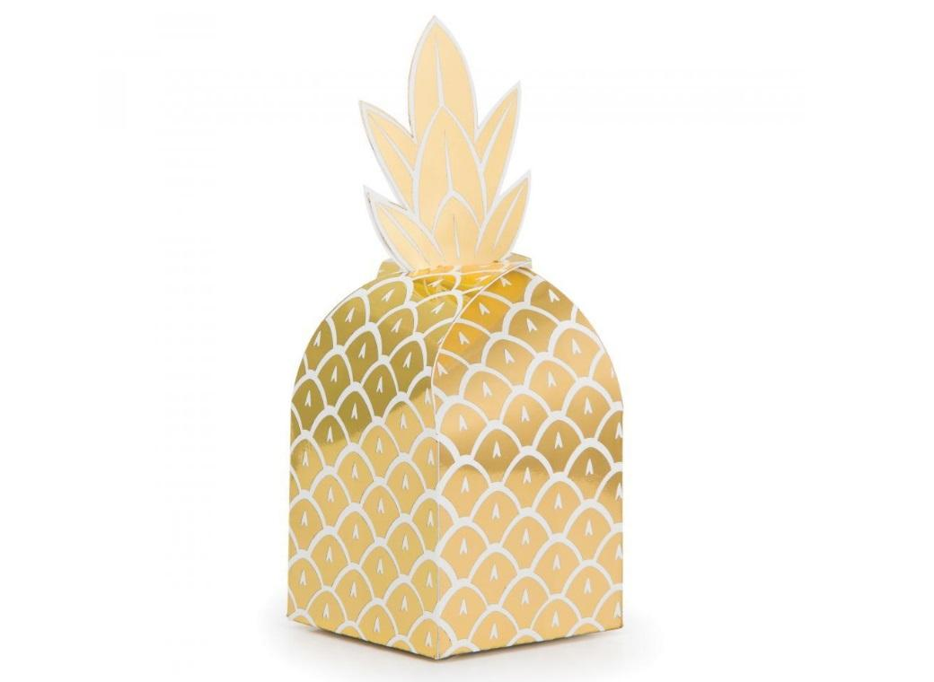 Pineapple Luxe Favour Boxes 8pk