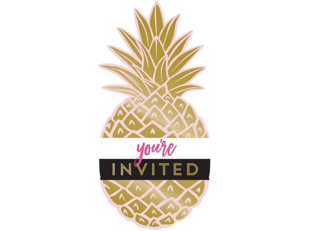 Pineapple Luxe Invitations 8pk