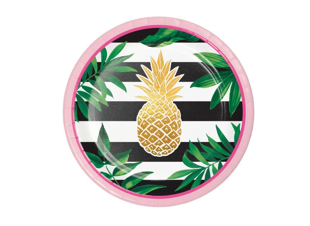 Pineapple Luxe Lunch Plates 8pk