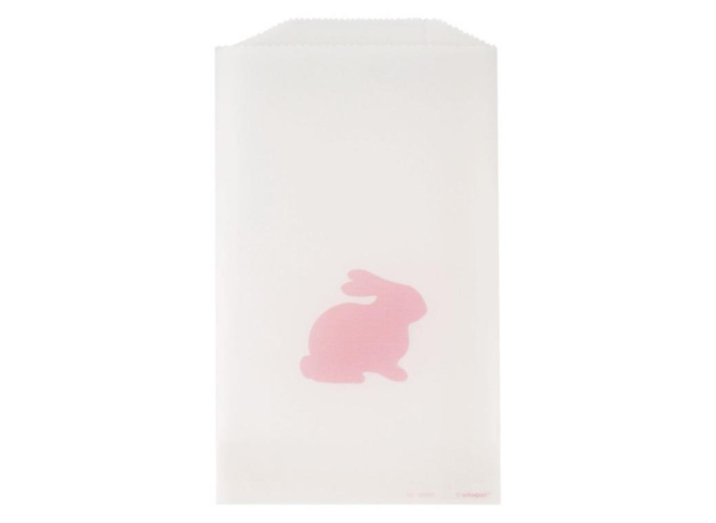 Pink Bunny Glassine Treat Bags 8pk