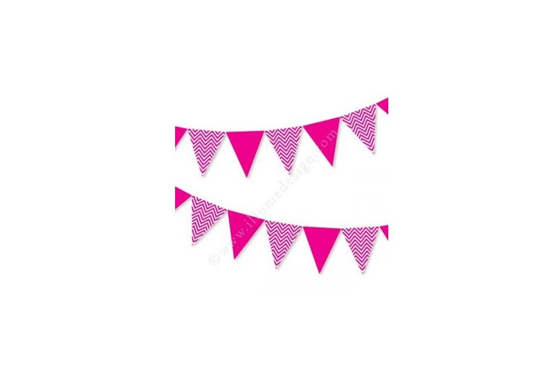Chevron Bunting Hot Pink