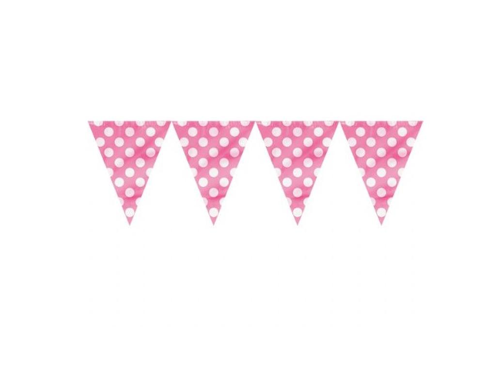 Pink Polka Dot Banner Flags