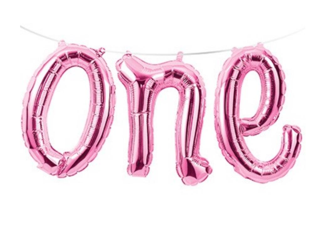 Foil Balloon Kit - Pink One