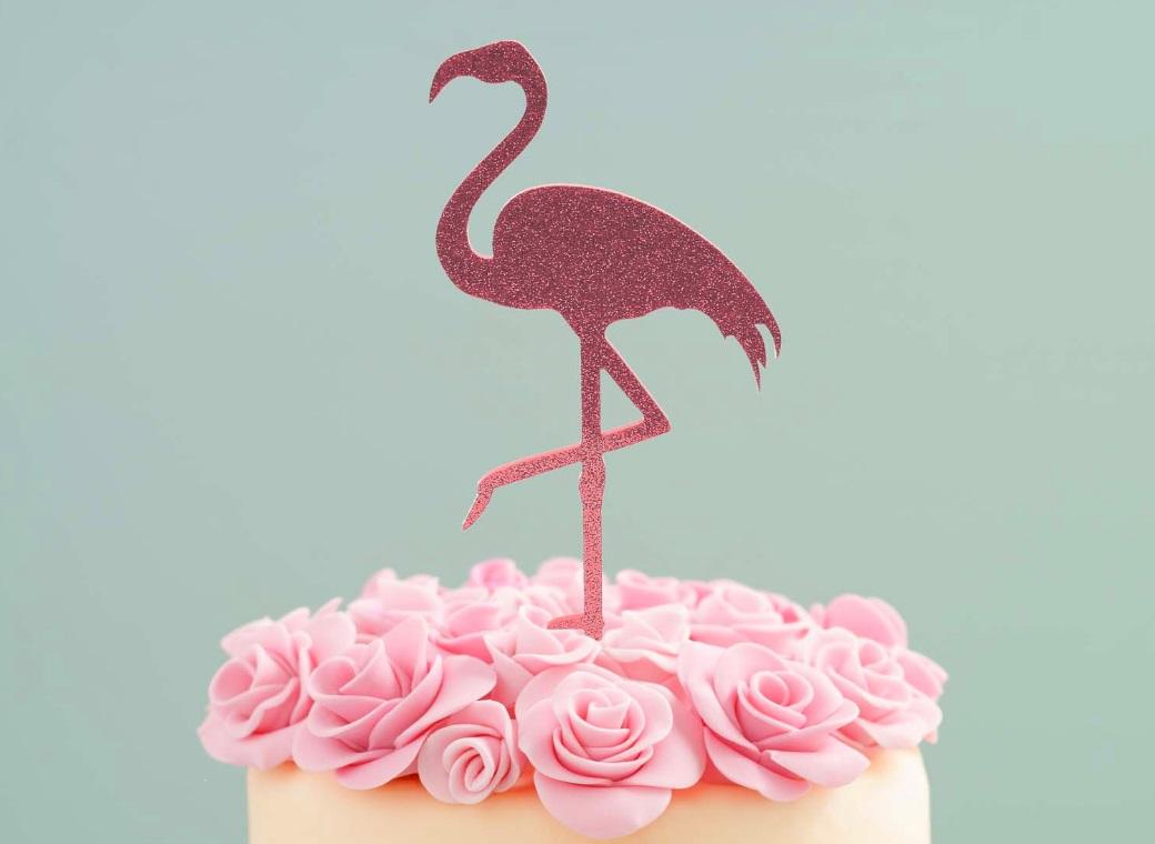 Flamingo Cake Topper Pink