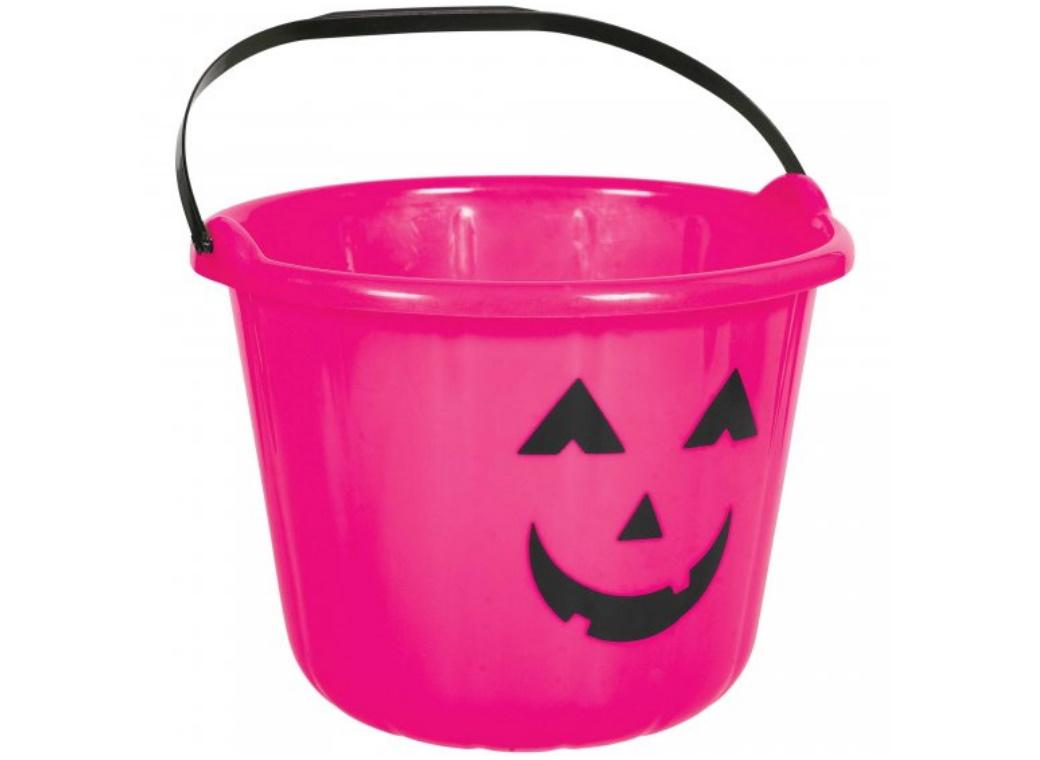 Pink Jack-O-Lantern Treat Bucket