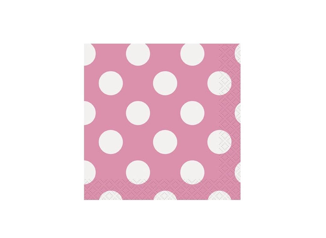 Pink Polka Dot Beverage Napkins