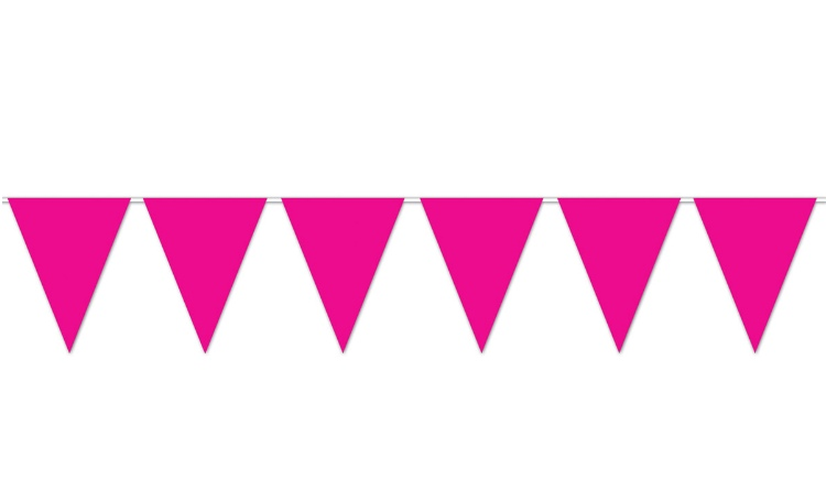 All Weather Bunting Flags - Hot Pink