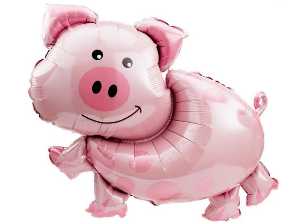 Pig SuperShape Foil Balloon