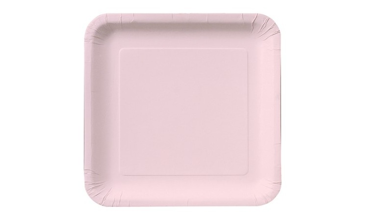 Lunch Plate Square - Classic Pink - 12pk