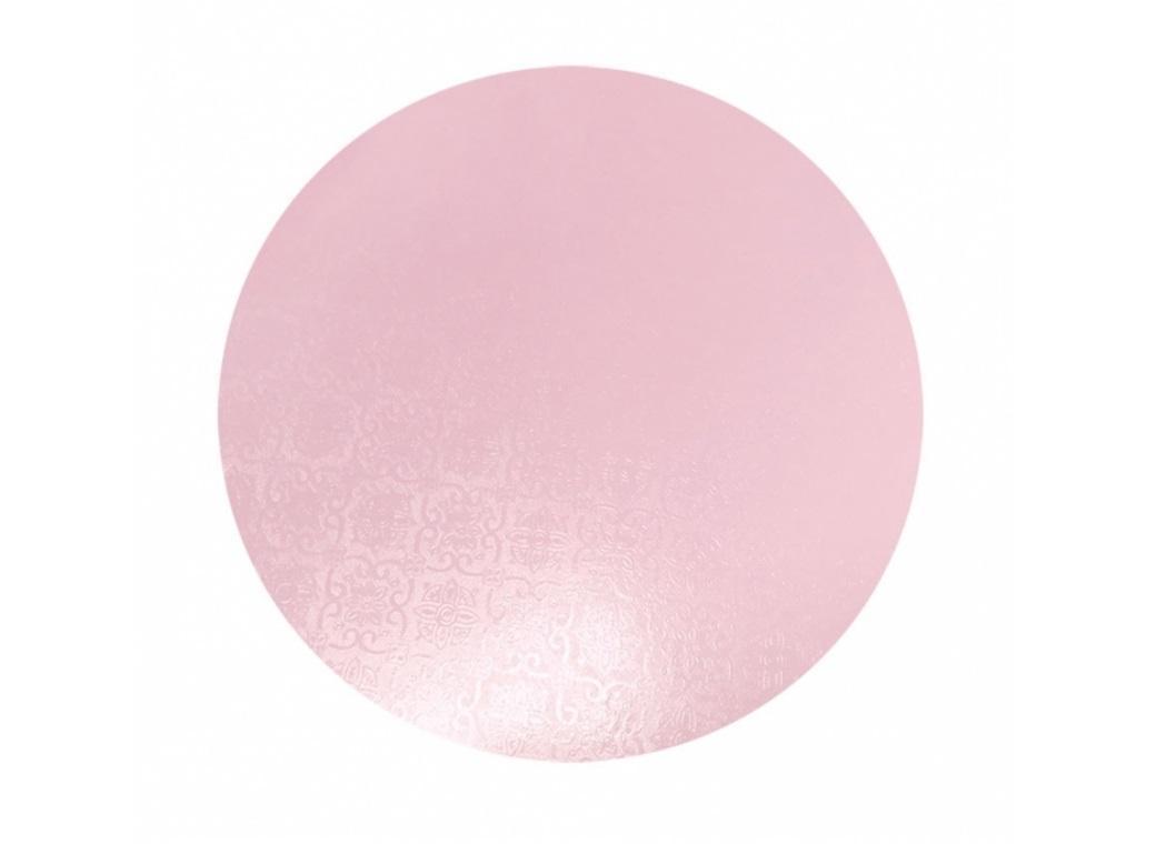 "Pink Masonite Cake Board Round - 11"""