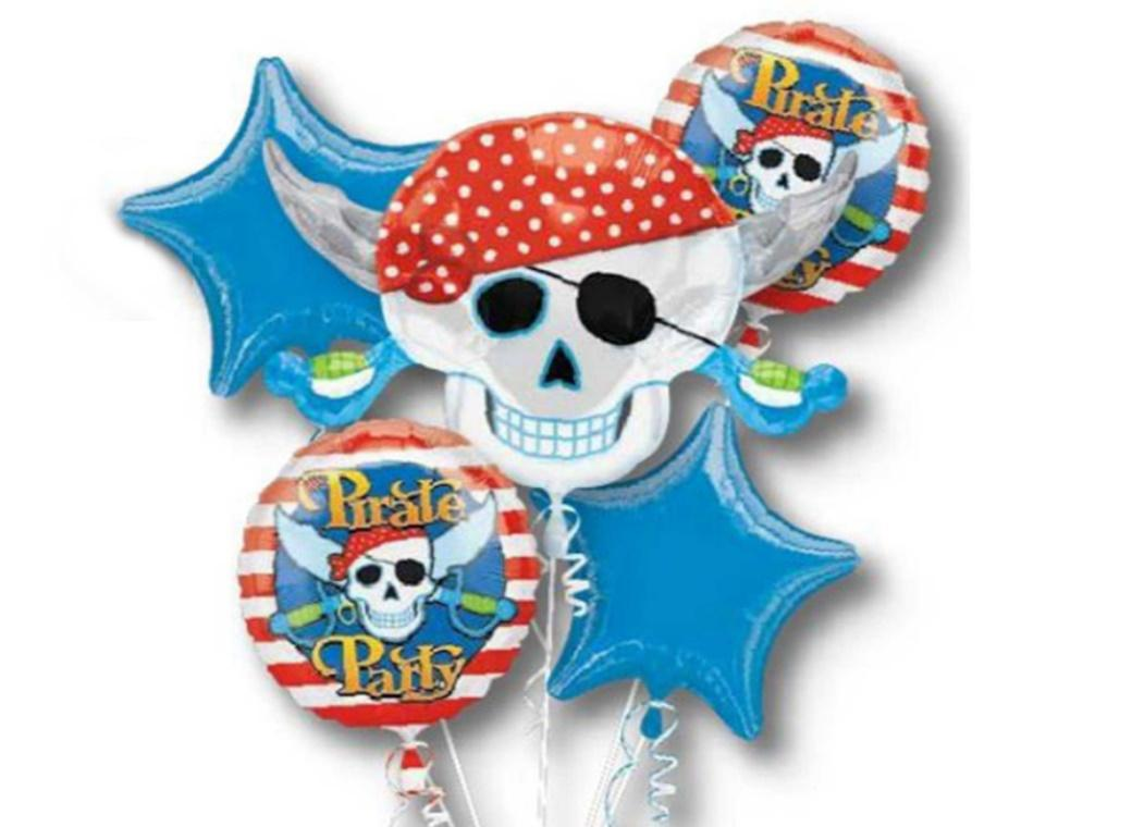 Pirate Party Foil Balloon Bouquet