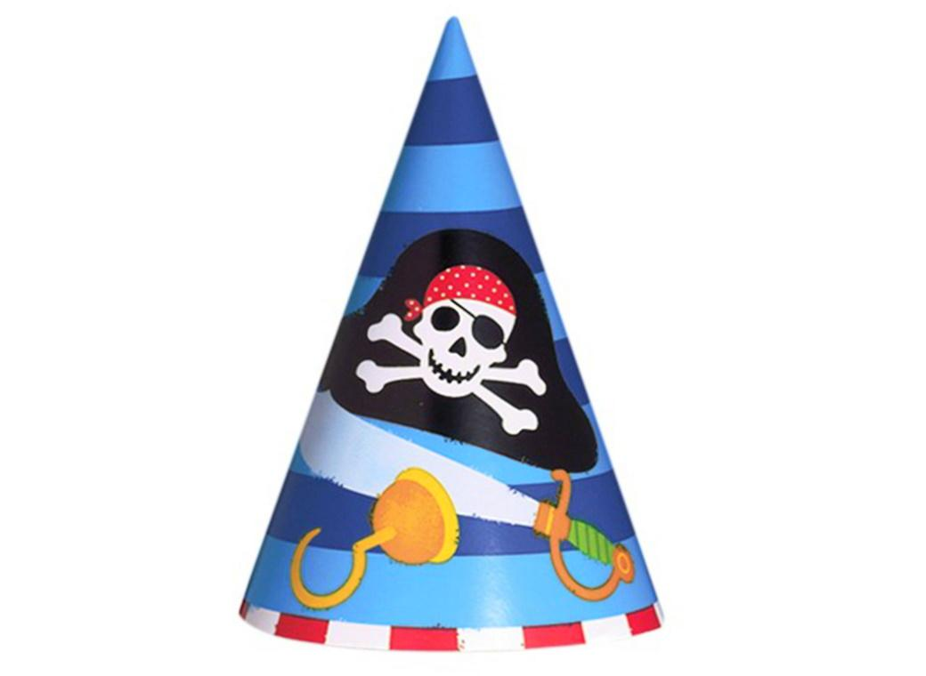 Pirates Treasure Party Hats 8pk