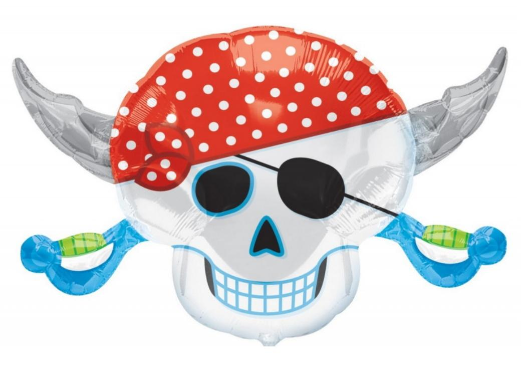 Pirate Skull SuperShape Foil Balloon
