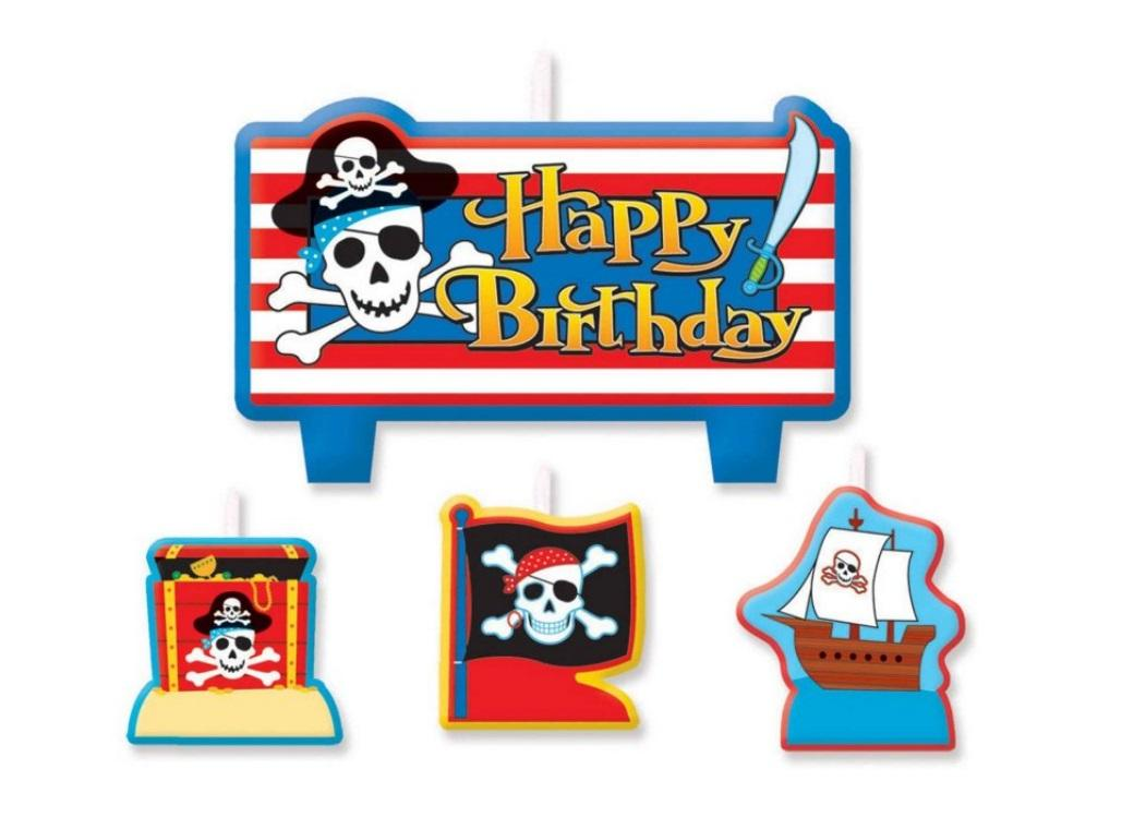 Pirates Treasure Candle Set