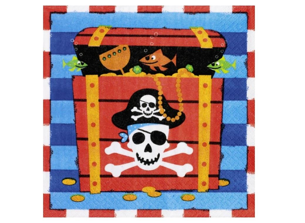 Pirates Treasure Lunch Napkins 16pk