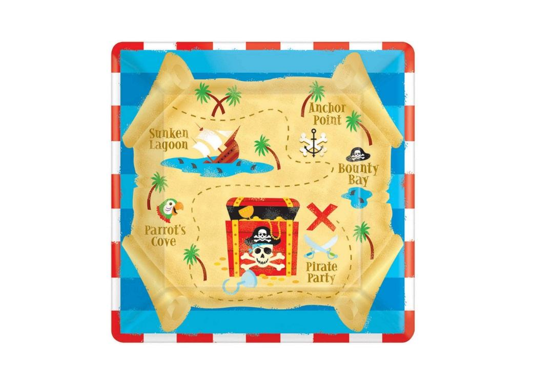 Pirates Treasure Lunch Plates 8pk