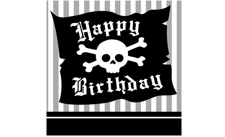 Pirate Party Beverage Napkins 16pk