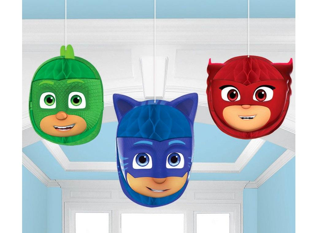 PJ Masks Hanging Honeycomb Decorations