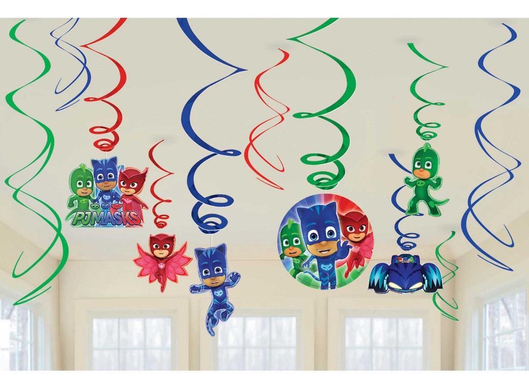PJ Masks Hanging Swirls Decorations