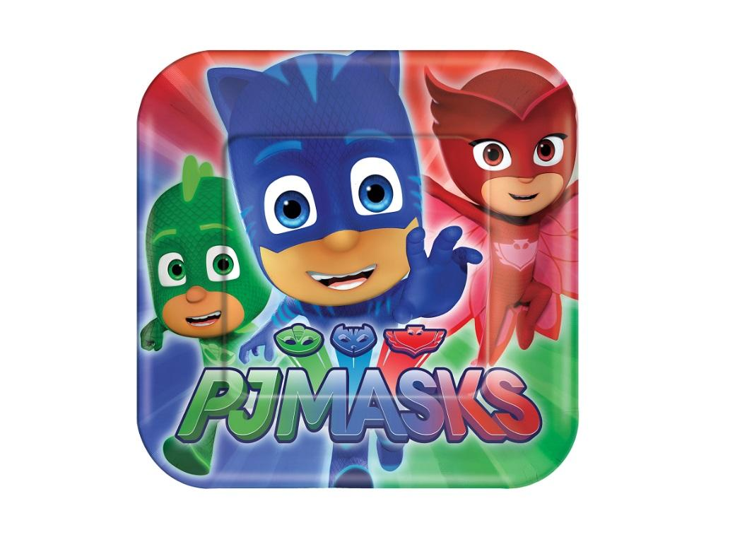 PJ Masks Lunch Plates 8pk