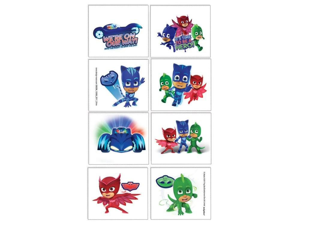 PJ Masks Tattoos 8pk