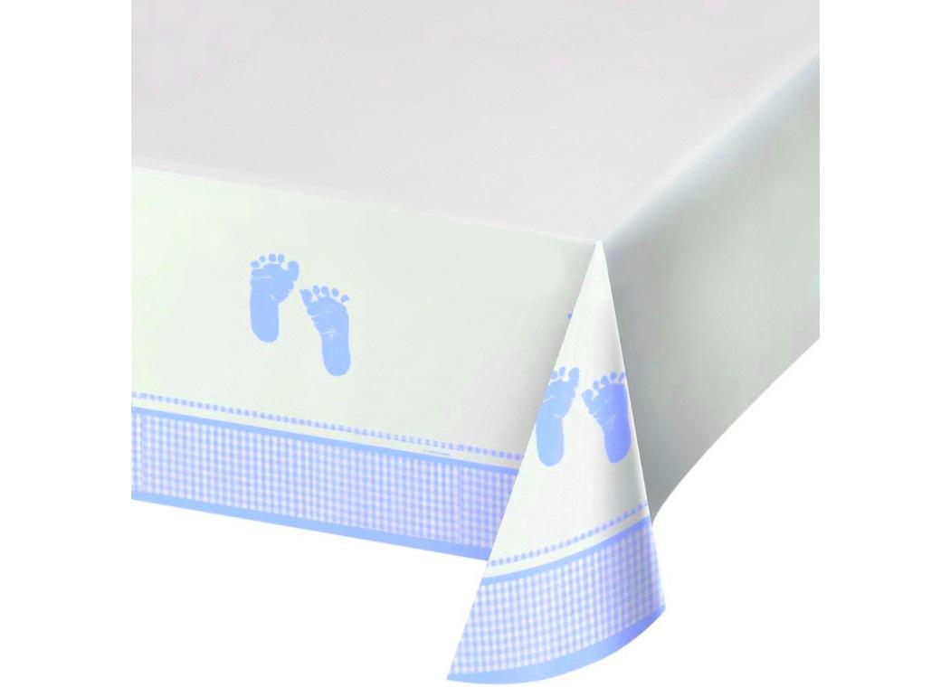 Plaid Baby Boy Tablecover
