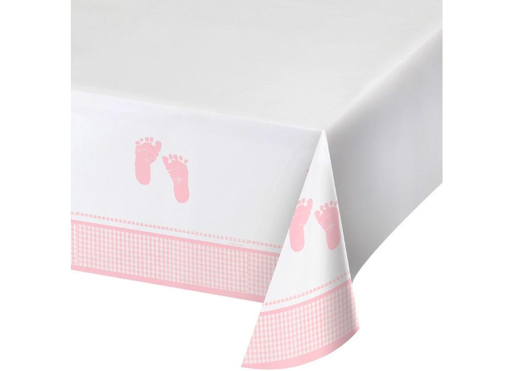Plaid Baby Girl Tablecover