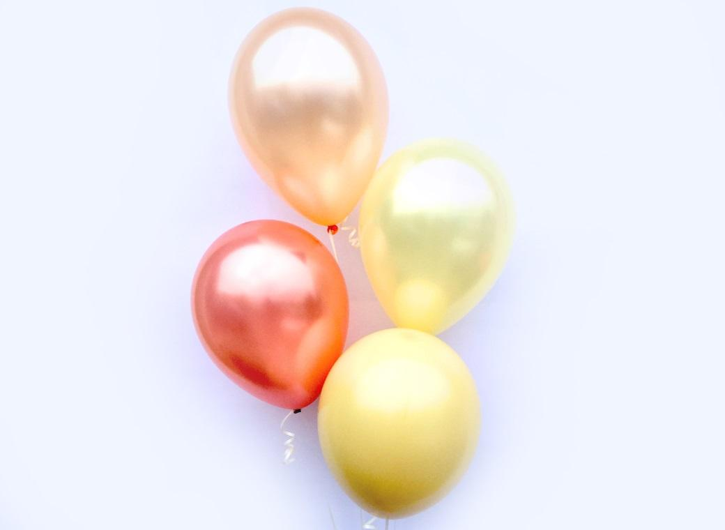 Plain Balloon Mix - Blushing