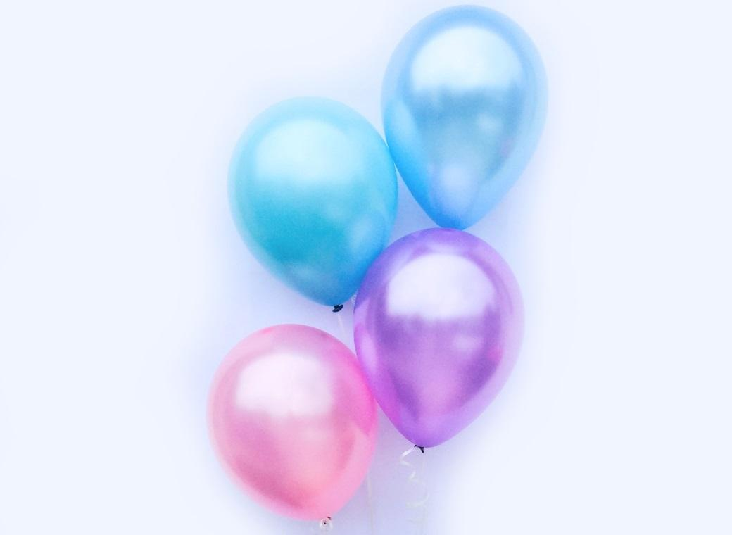 Plain Balloon Mix - Mermaid 12pk