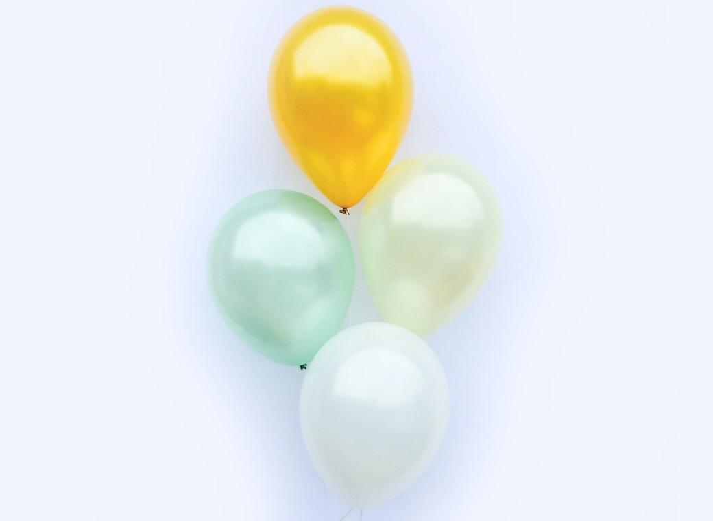Plain Balloon Mix - Mint Luxe 12pk