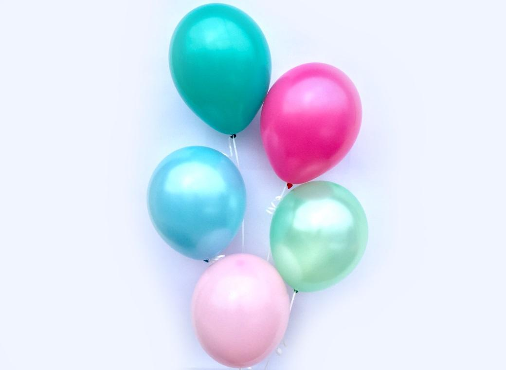 Plain Balloon Mix - Sherbet 12pk