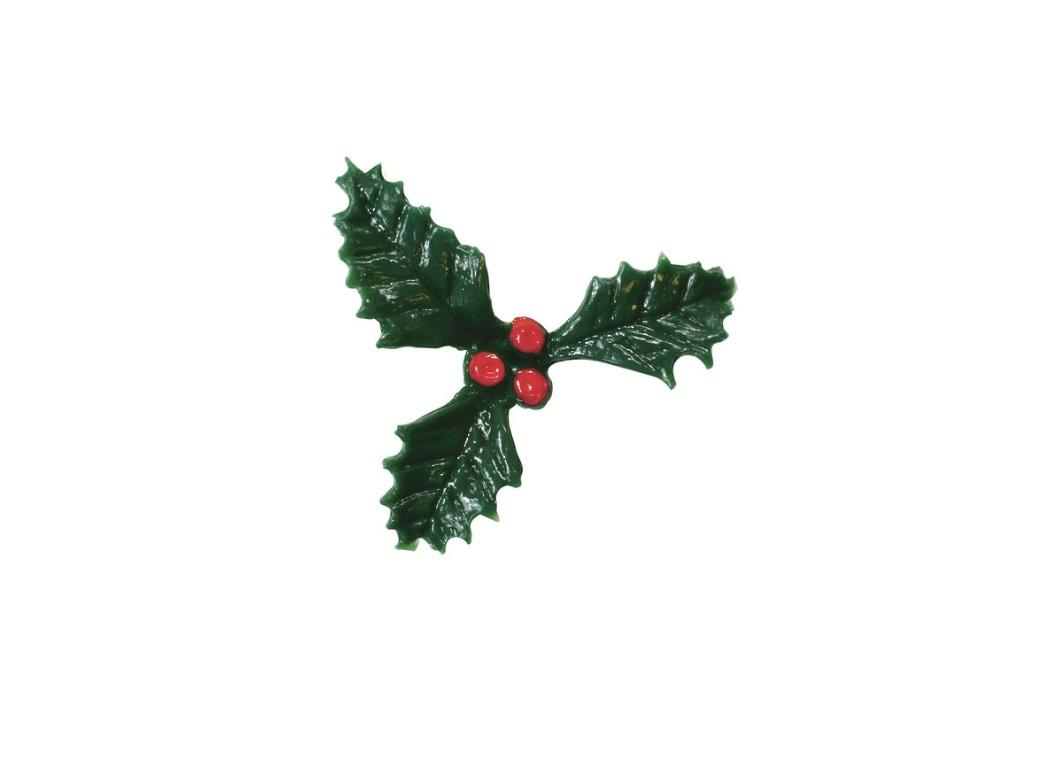 Holly Cake Decoration 25mm