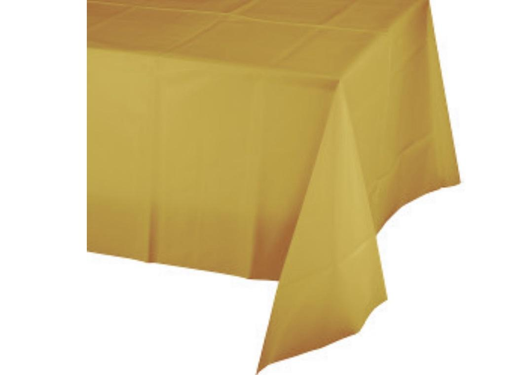 Gold Plastic Table Cloth