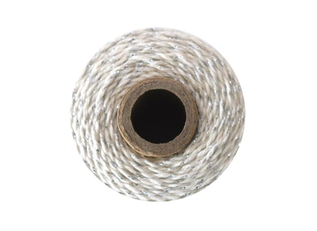 Bakers Twine - Natural & Platinum Shimmer Twine