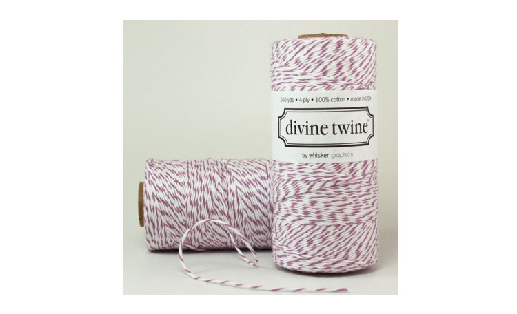 100% Cotton Bakers Twine - Plum
