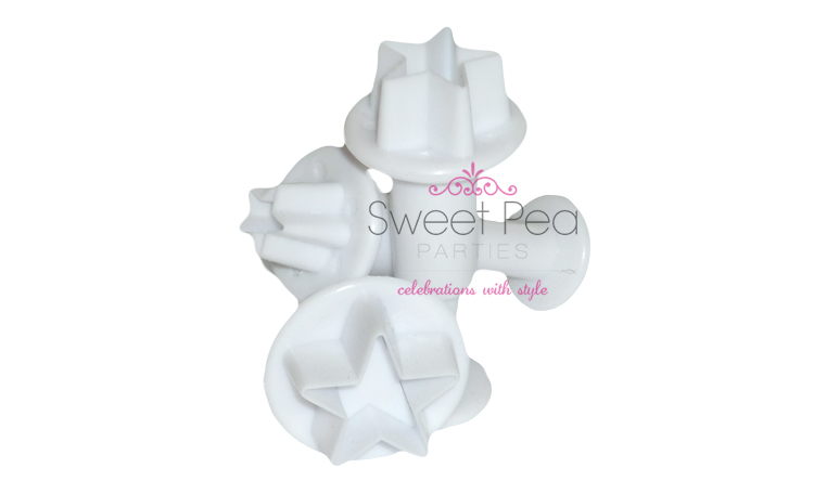 Star Fondant Plunger Cutter - Set Of 3