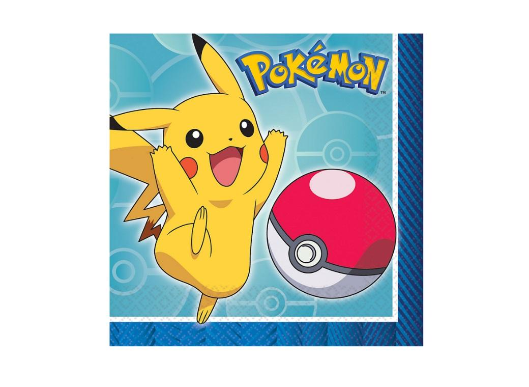 Pokemon Beverage Napkins 16pk