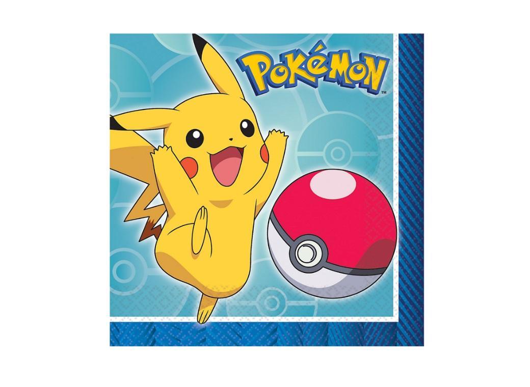 Pokemon Beverage Napkins 16pk