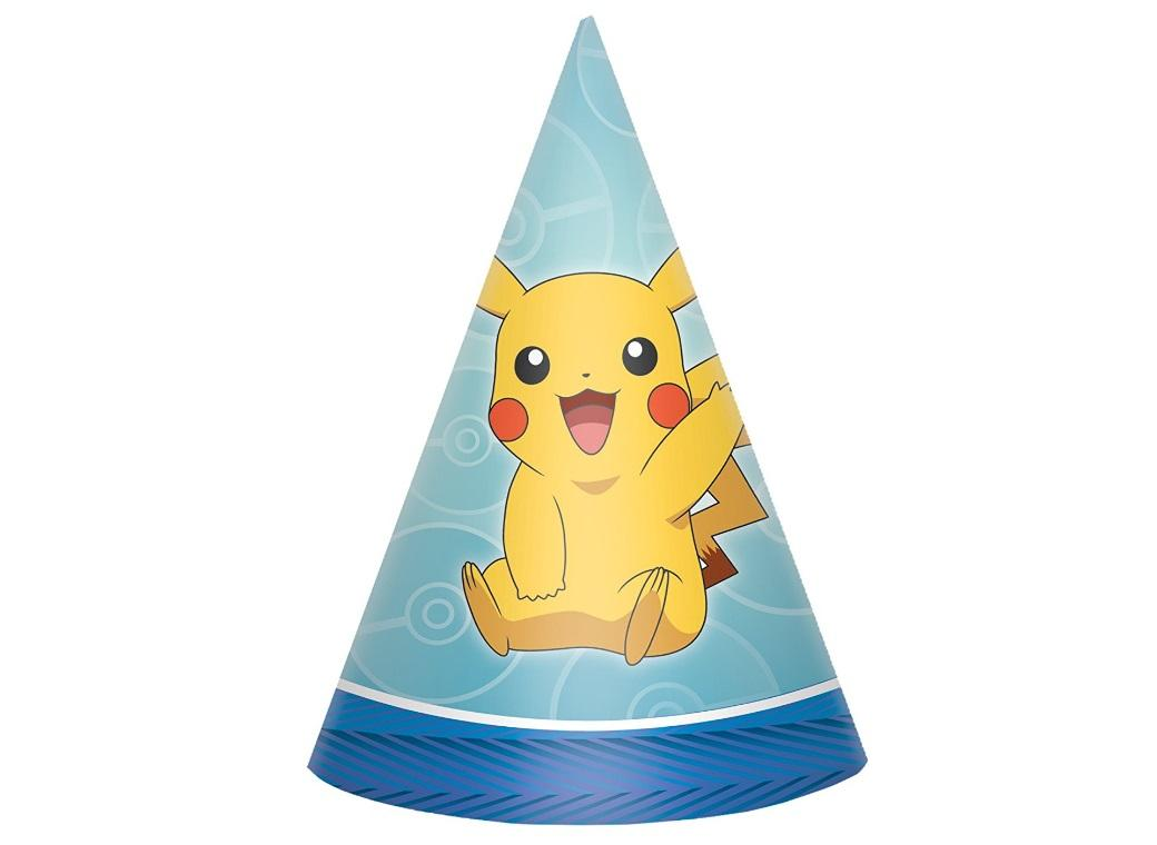 Pokemon Party Hats 8pk
