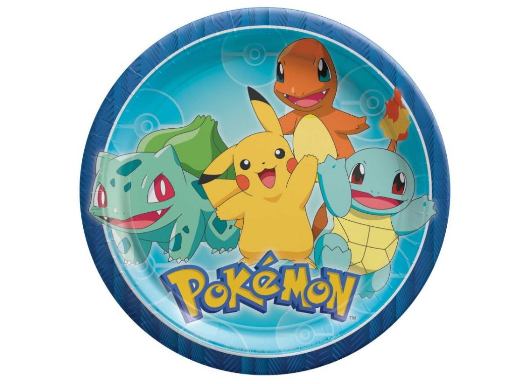 Pokemon Dinner Plates 8pk