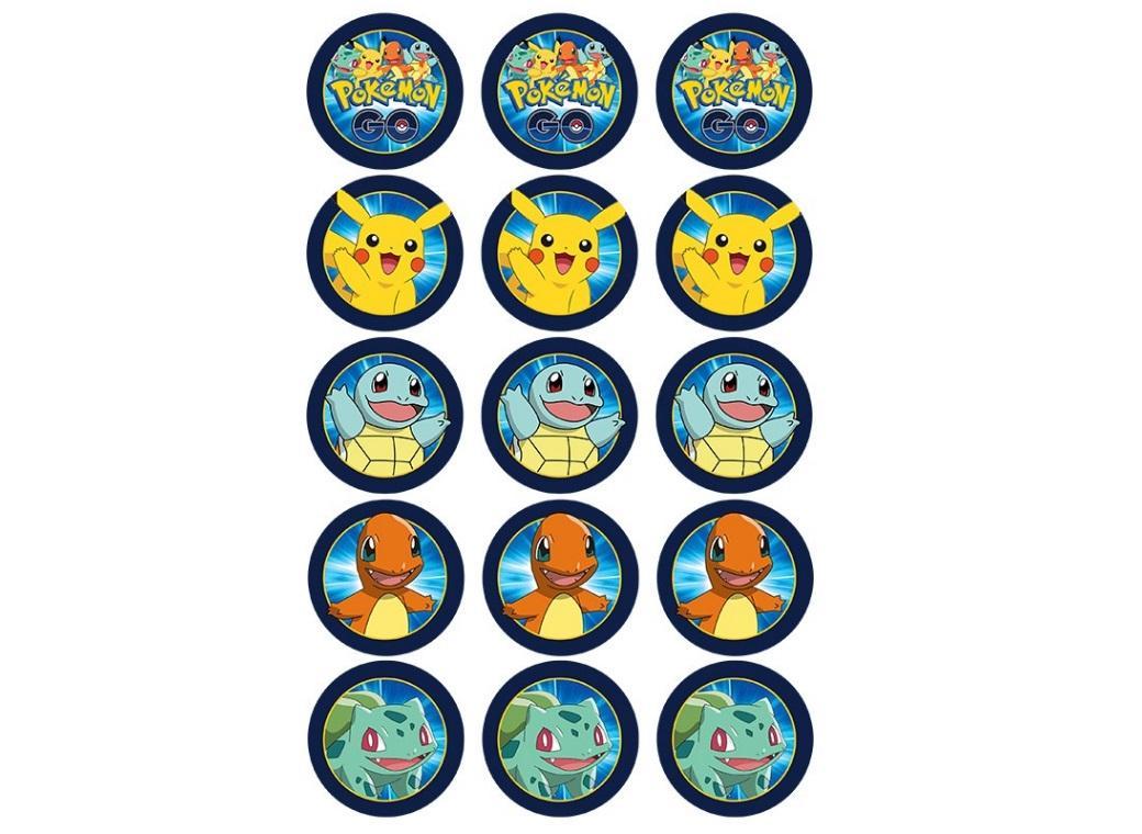 Edible Icing Cupcake Images - Pokemon