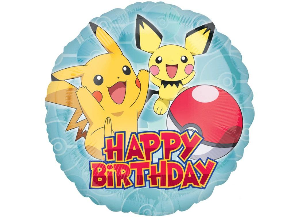 Pokemon Happy Birthday Foil Balloon