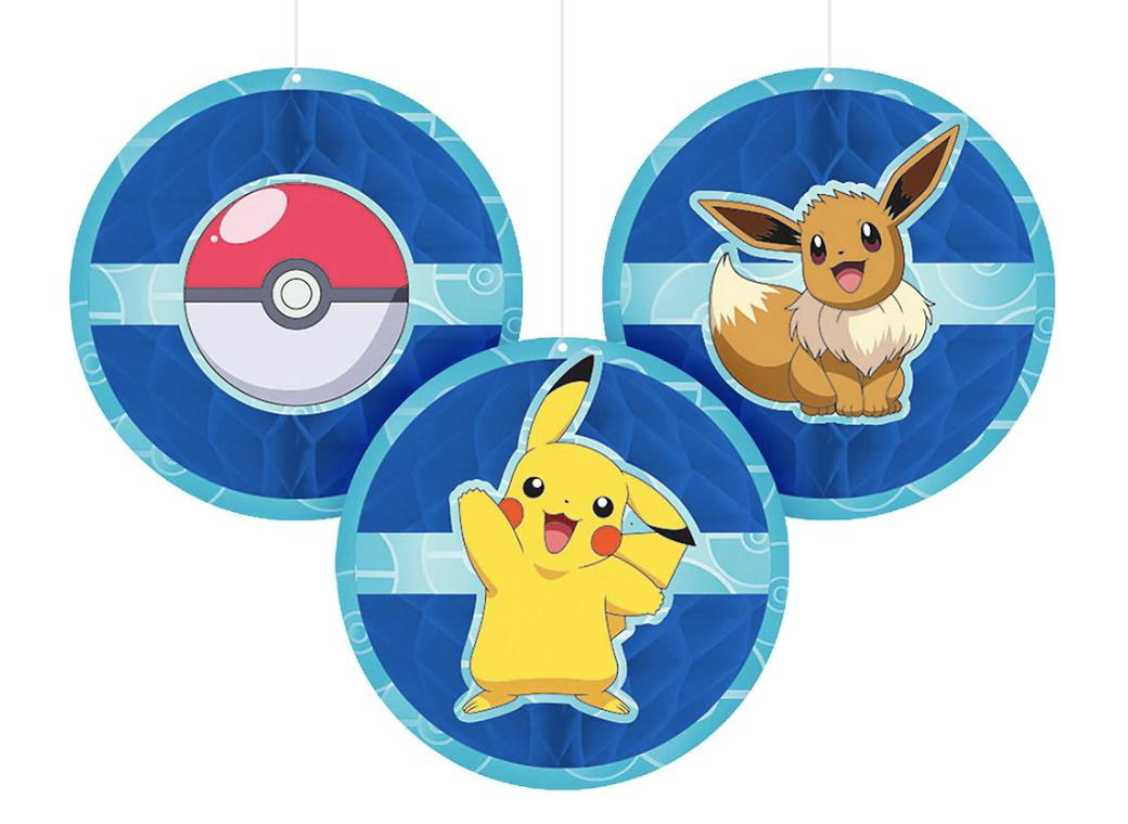Pokemon Classic Honeycomb Hanging Decorations