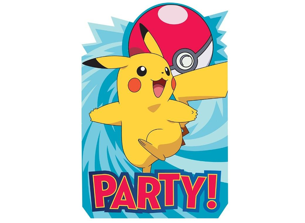 Pokemon Invitations 8pk