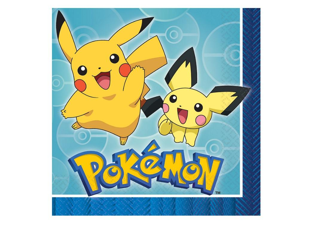 Pokemon Lunch Napkins 16pk