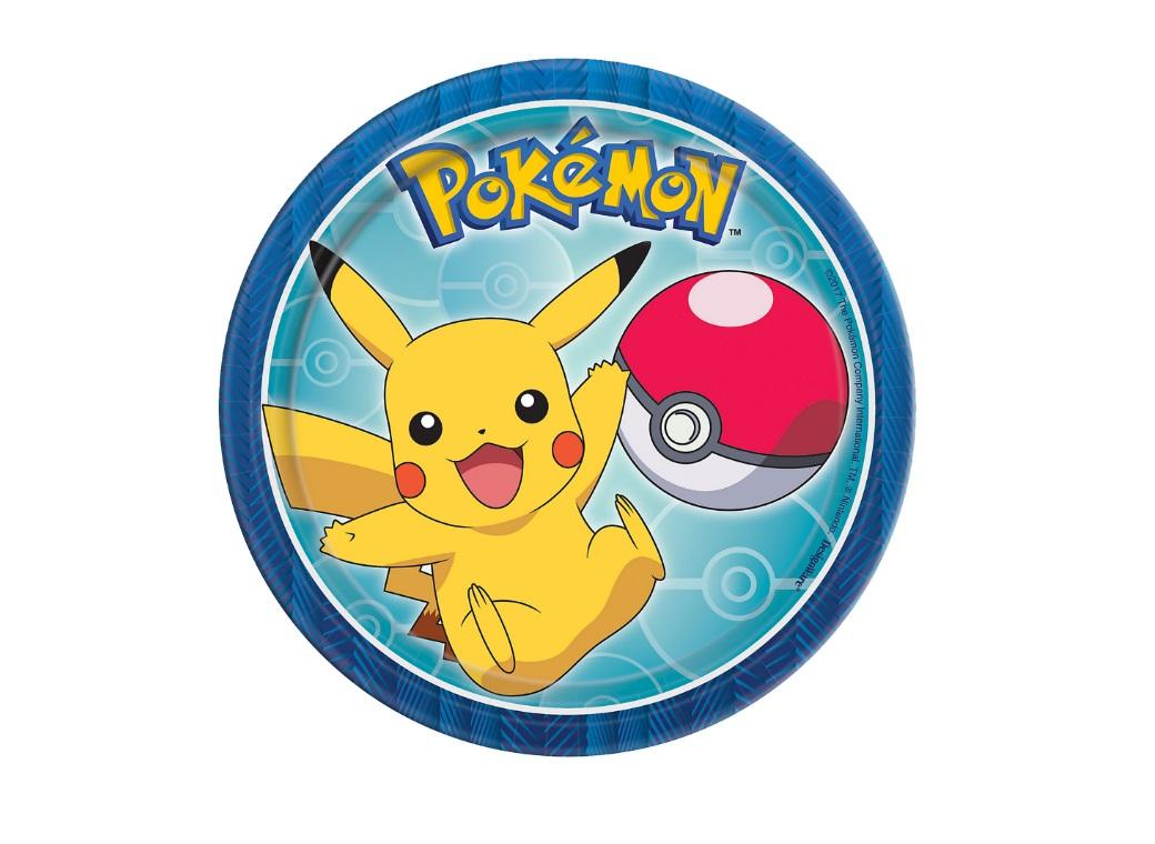 Pokemon Lunch Plates 8pk