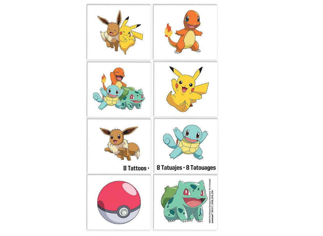 Pokemon Temporary Tattoos