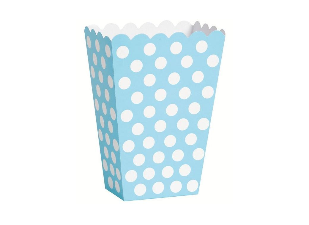 Polka Dot Treat Boxes - Light Blue